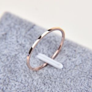 Jewelry - Brand new! Titanium steel with rose gold plating